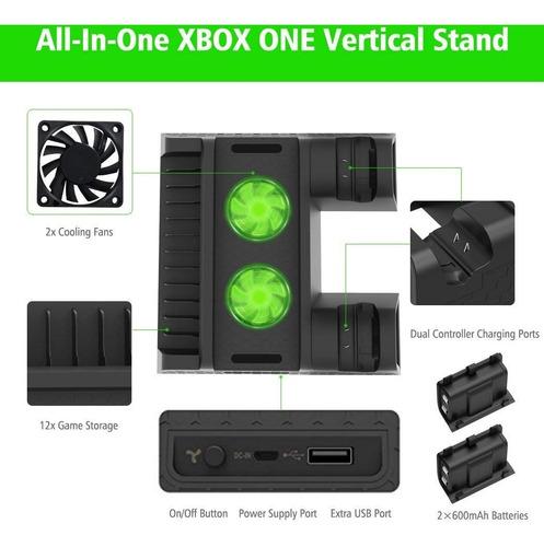 ventilador cargador xbox one s x fat cooler cargador control