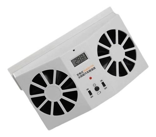 ventilador carro solar refrigerador automotivo circulador ar