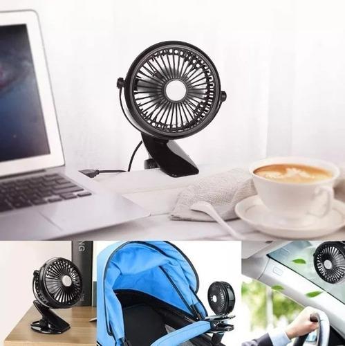 ventilador con clip recargable ,  camping , playa , usb