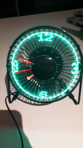 ventilador con dial led de hora marca brookstone