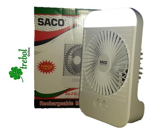 ventilador con lampara recargable usb portatil 5 horas