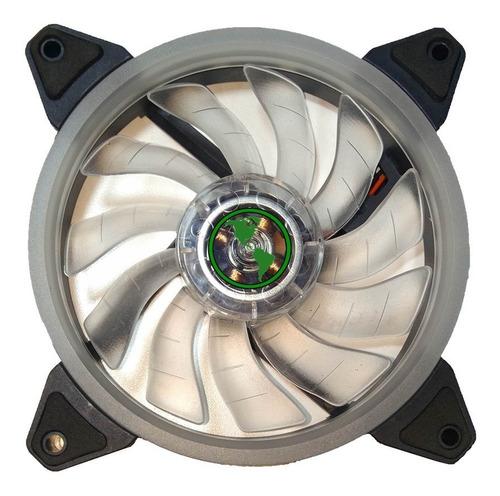 ventilador cooler luz led rgb 12cm gamer gabinete multicolor