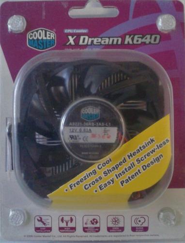 ventilador cooler master, x dream k640