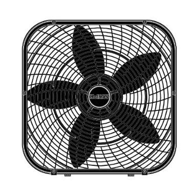 ventilador de 20 pulgadas holmes  fan box, negro