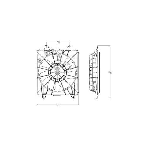 ventilador de condensador cpp para honda civic ho3113124 200