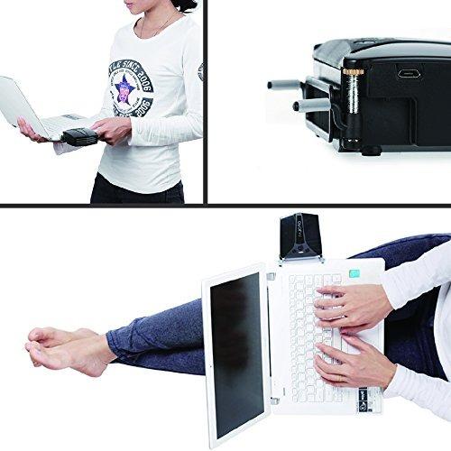 ventilador de laptop opolar lc06 con pantalla de temperatura