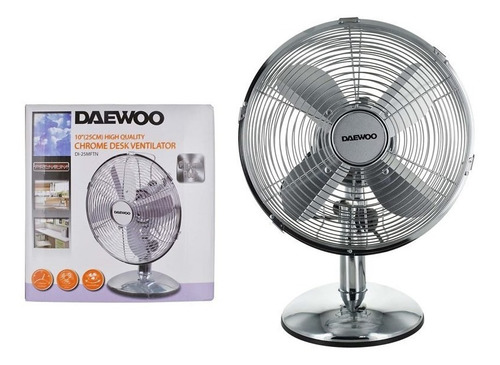 ventilador de mesa  cromado daewoo di-25mftn - el clon