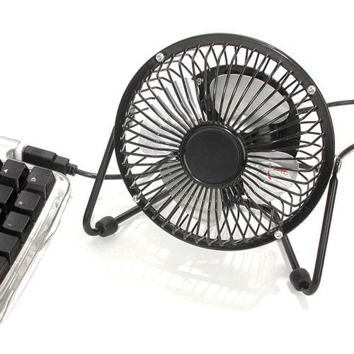 ventilador de mesa usb de metal para computador e notebook