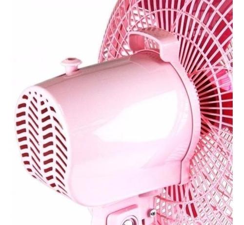ventilador de mesa y/o pared rosa 35 cm  ventisol