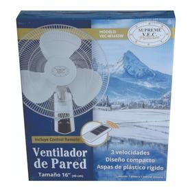 Ventilador De Pared Con Control Remoto Blanco