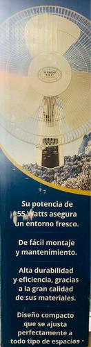 ventilador de pared vec w1655w control remoto inalámbrico