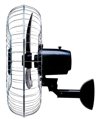 ventilador de parede 50cm preto grade cromada ventisol 110v