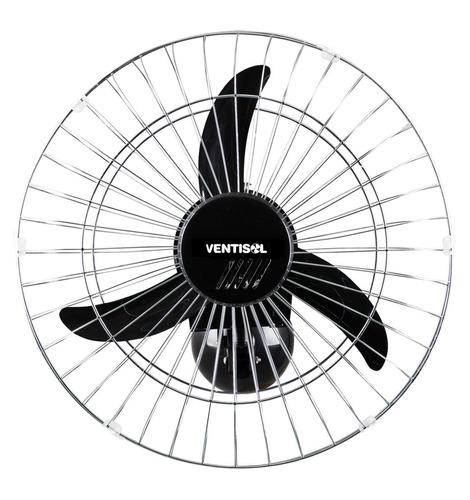 ventilador de parede 50cm preto grade cromada ventisol 220v