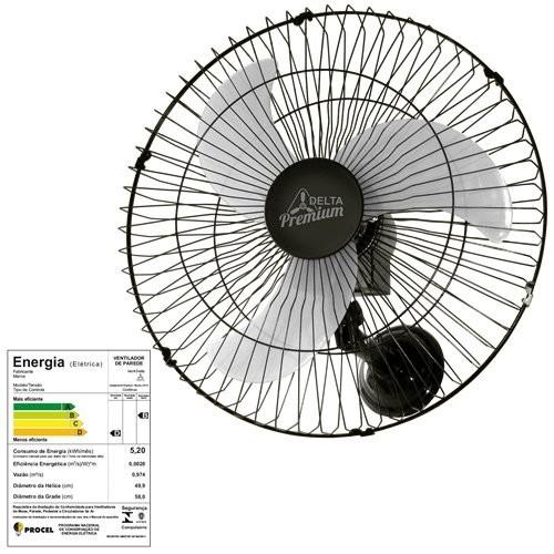 ventilador de parede 60 cm premium bivolt - venti - delta