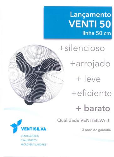 ventilador de parede ventisilva venti50 bivolt cromado