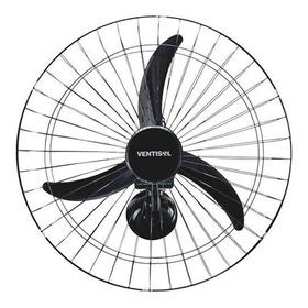 Ventilador De Parede Ventisol New Comercial Preto Com 3 Pás De Plástico, 50cm De Diâmetro 127v