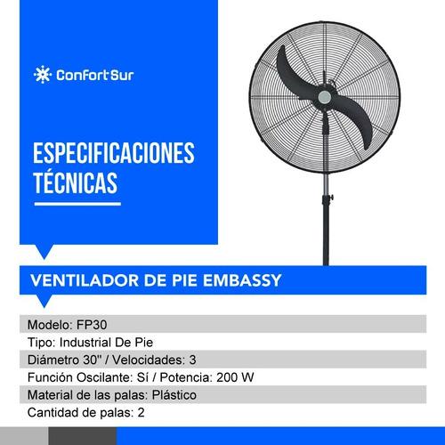 ventilador de pie 30  embassy fp30 industrial + env *11