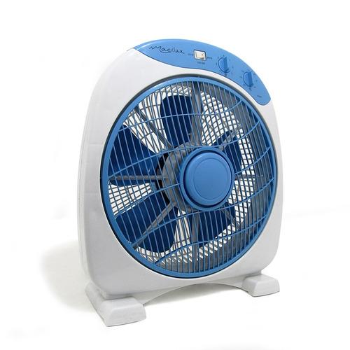 ventilador de piso macilux 12''-gris con azul - v0125