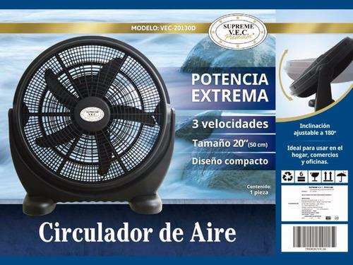 ventilador de piso supreme vec 20 pulgadas vec-20130d