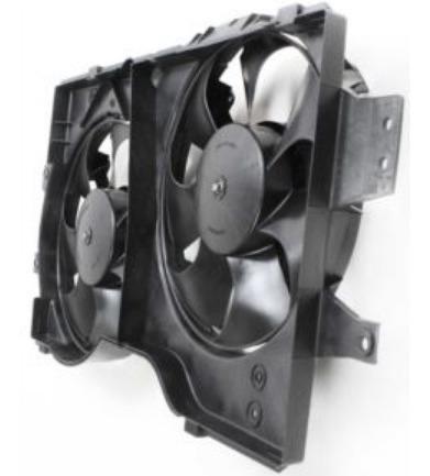 ventilador de radiador plymouth voyager 1996 - 2000 nuevo!!!