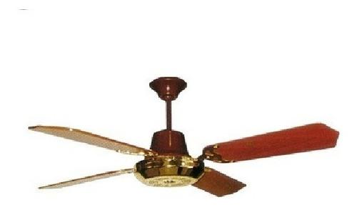 ventilador de techo 120cm madera crivel lujo