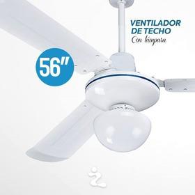 Ventilador De Techo 56 Pulgadas Con Lampara