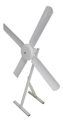 ventilador de techo blanco con palas metálicas sese 18cuotas