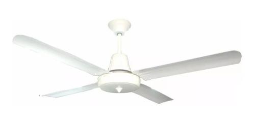 ventilador de techo blanco con palas metálicas - sese - e. a
