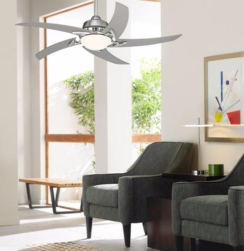 ventilador de techo casa vieja níquel cepillado con luz