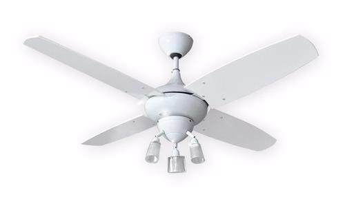 ventilador de techo hipnos blanco motor potente ilum g9 led