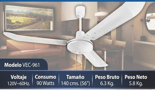 ventilador de techo industrial 3 aspas supreme vec 961 5 vel