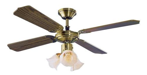 ventilador de techo james 3 luces aspas de madera vt2 yanett