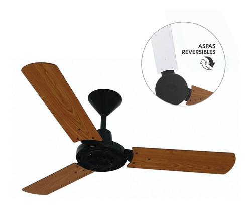 ventilador de techo ken brown madera xj-104 - aj hogar