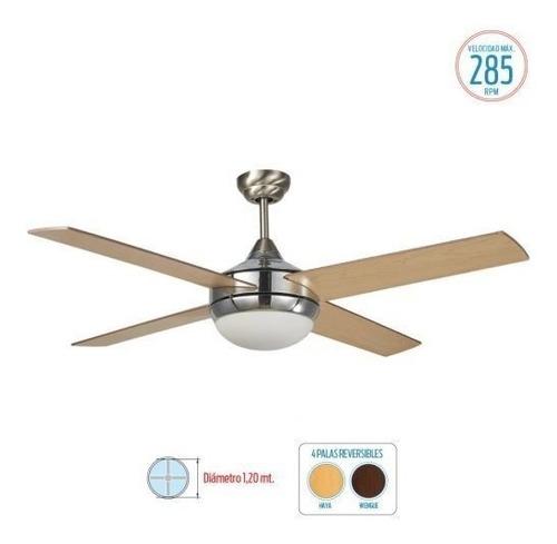 ventilador de techo liliana madera vthm310 plafon - aj hogar