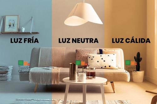 ventilador de techo luz led 20w 4 palas metalico color
