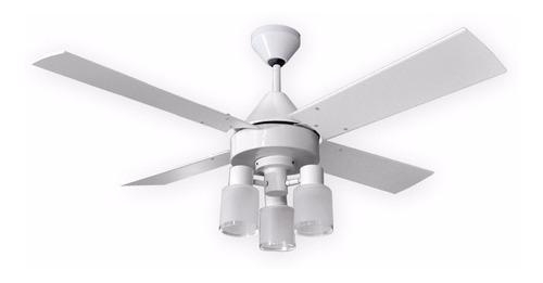 ventilador de techo martin argos blanco con luz - motor pot.