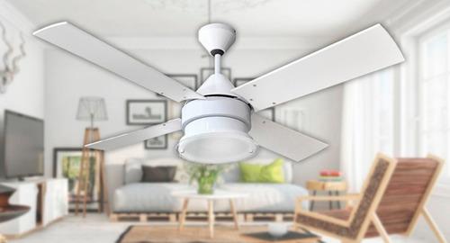 ventilador de techo martin argos blanco potente ilum plafon