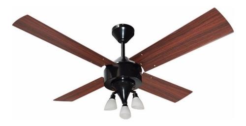 ventilador de techo martin argos negro ptente ilum g9 led