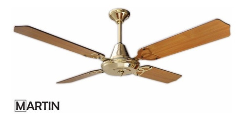 ventilador de techo martin aura dorado pala madera