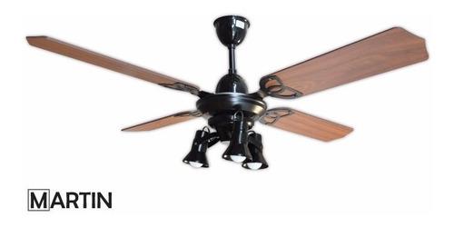 ventilador de techo martin aura negro spot x3l