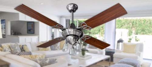 ventilador de techo martin gea platil potente ilum g9  / led