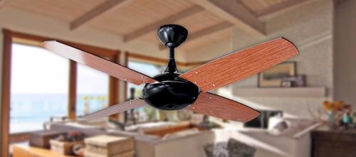 ventilador de techo martin hipnos negro- motor pot.