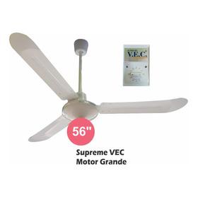Ventilador De Techo Motor Grande  Supreme Vec 5 Velocidades