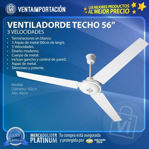 ventilador de techo potencia industrial + potencia menos rui