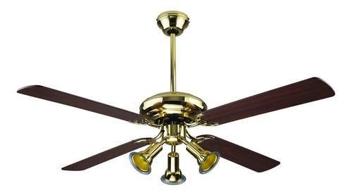 ventilador de techo spar pala madera bronce sp-52pb