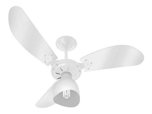 ventilador de teto 3 pas cristal branco 127v  venti delta