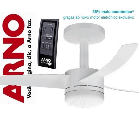 caf4ad281 Ventilador De Teto Arno Vx10 + Controle Remoto - Branco - R  550