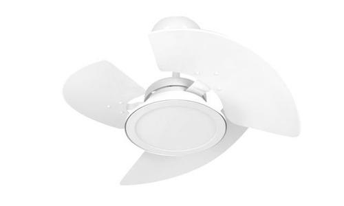 ventilador de teto branco plafon led 3 pás - tron - 110v