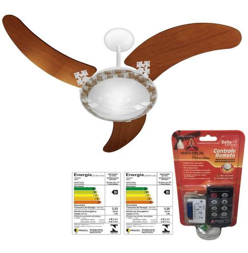 ventilador de teto - delta ventus com controle remoto