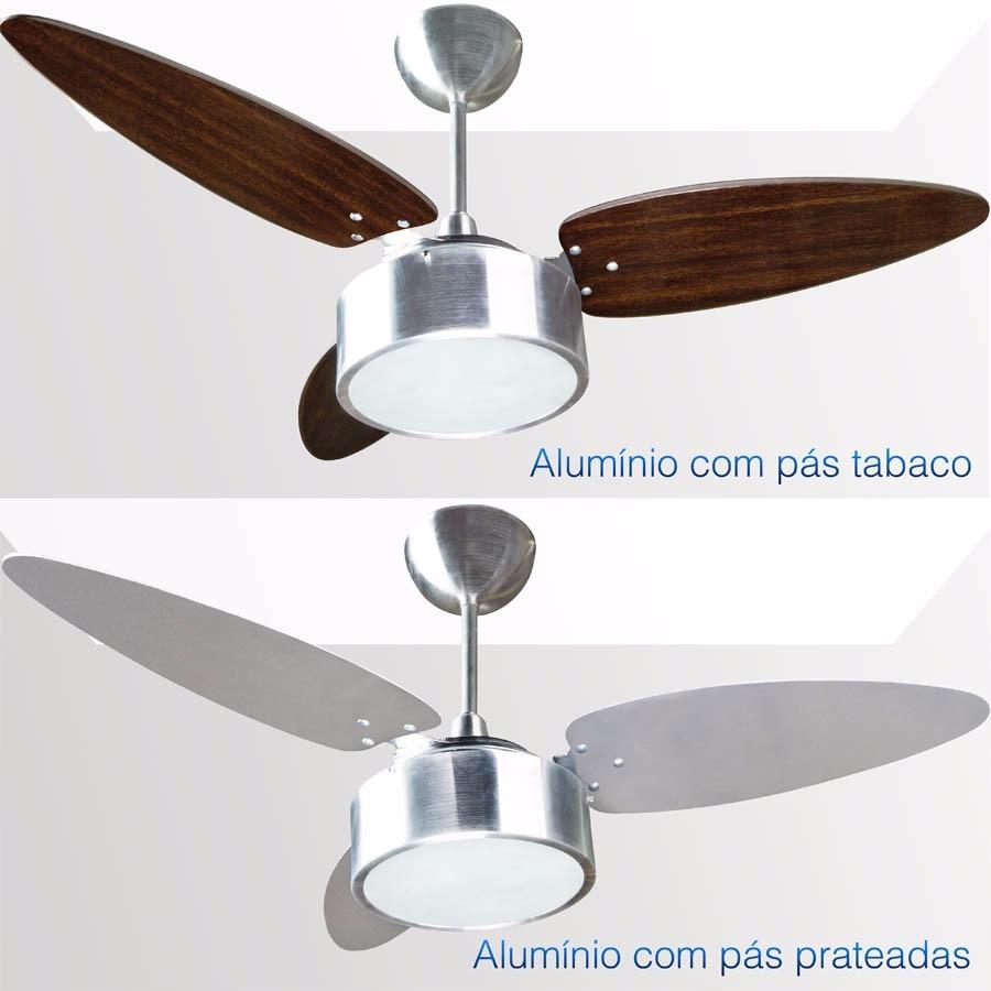 1347ff73b ventilador de teto fharo 3 pás dupla face prata tabaco 127v. Carregando  zoom.